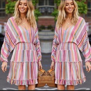 ♥️2 left ♥️Multicolor spring dress